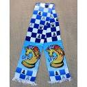 "Chess colored scarf ""Knight"""