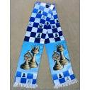 "Chess colored scarf ""Pieces"""